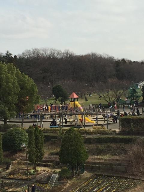 芝生広場・子どもの広場・グリーンタワー 子ども広場と芝生広場の図。お休みの日には沢山の子どもたちで賑わいます。