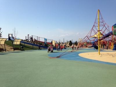 大和ゆとりの森公園 わんぱく広場 広々としていて子どもたちも大満足!