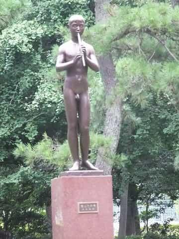 有栖川宮記念公園 笛吹き少年像