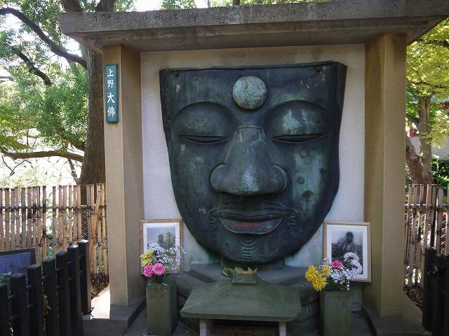 上野恩賜公園 上野大仏・パコダ薬師堂 大仏の顔