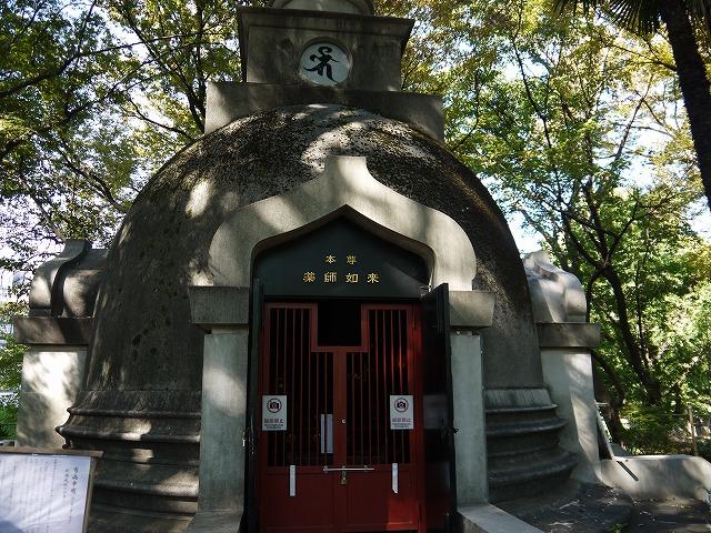 上野大仏・パコダ薬師堂 パコダ(仏塔)