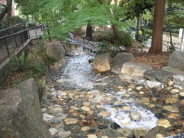 窪町東公園 こもれびの滝