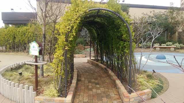 ぐらんぐりんガーデン 森のトンネル