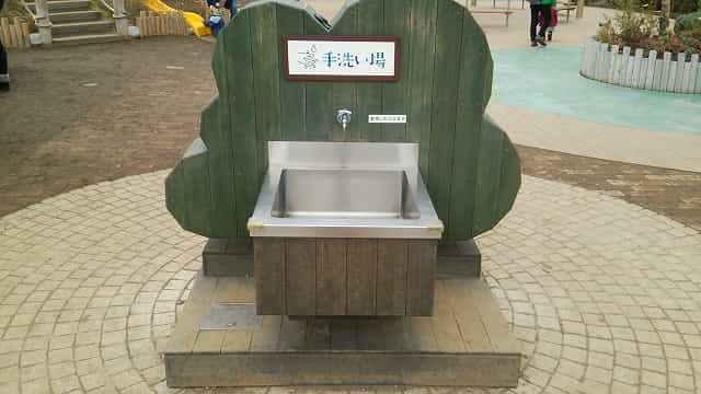 ぐらんぐりんガーデン 手洗い場