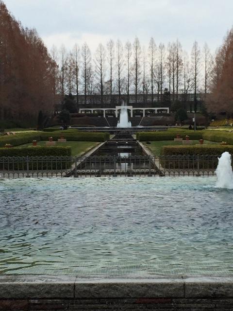 県立相模原公園 噴水広場・公園ナビステーション・お手洗い 噴水がいくつも並んでいます。出る時間を見計らって見に行くといいですよね!残念ながらこの日はすべての噴水が出ている写真はとれませんでした。