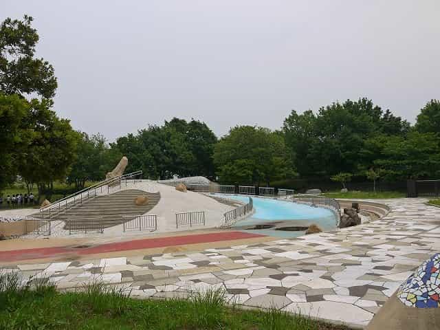 舎人公園 じゃぶじゃぶ池