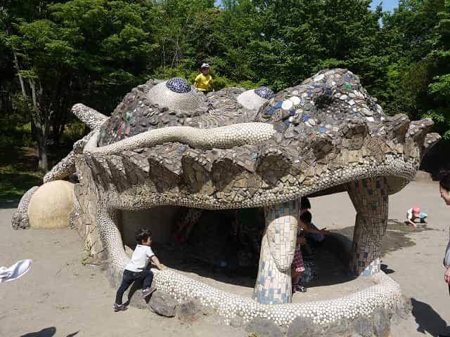 昭和記念公園 こどもの森 ドラゴンの砂山