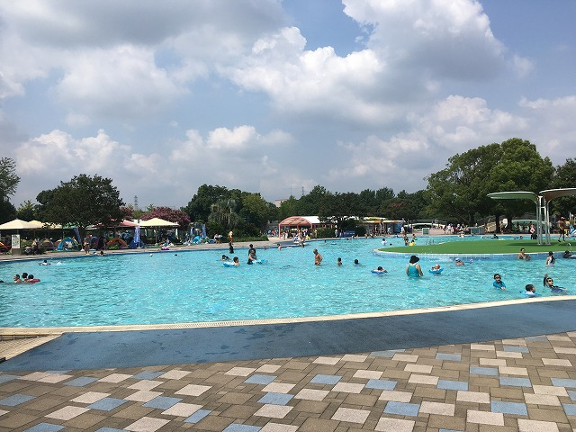昭和記念公園 プール クローバープール