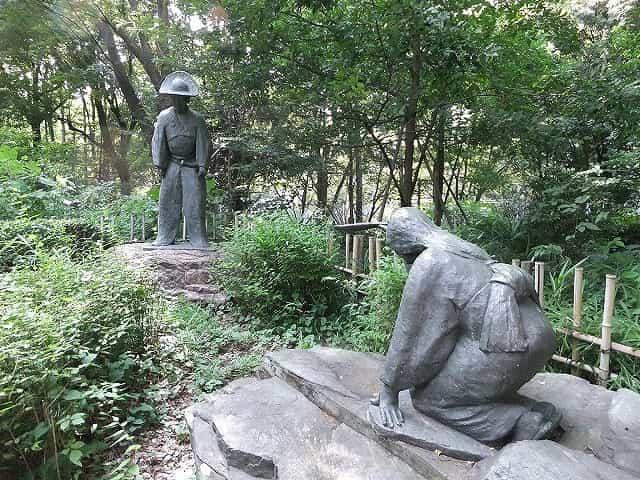 新宿中央公園 銅像