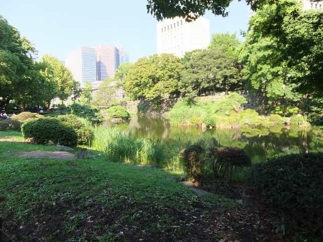 日比谷公園 旧日比谷見附 心字池