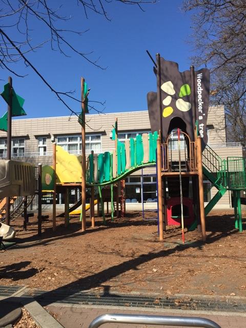 林間公園 4)広い公園内ですが、しきりなどが一切ないのであたりを見回す事が出来て、遊び回る子どもも、大人も安心です!