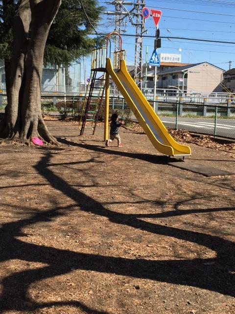 松蔭公園 昔ながらの滑り台もありますよ!角度が急でスリル満点!