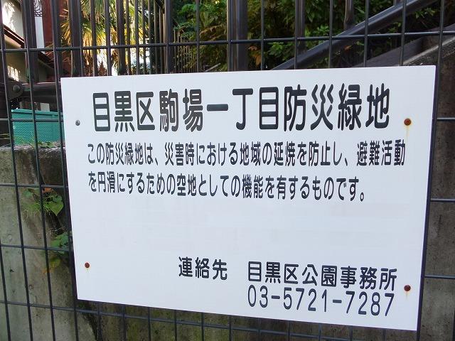 駒場一丁目防災緑地