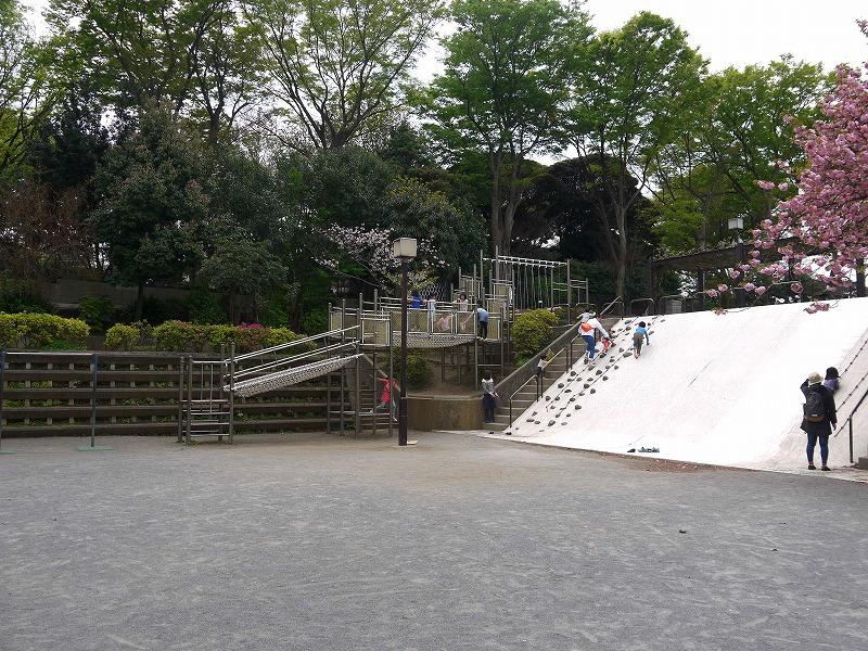 不動公園 すべり台とアスレチック